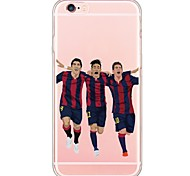 For iPhone 7 Sports Stars Pattern TPU Ultra-thin Ranslucent Soft Back Cover for iPhone 6s 6 Plus SE 5s 5