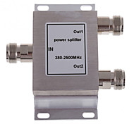 2-Way N Female Power Divider Splitter 380-2500MHz for Mobile Phone Signal Booster Repeater