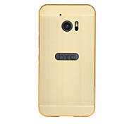 For HTC series Case Luxury Gold Plating Armor Aluminum Metal Frame + Mirror Acrylic Case Back Cover Hot