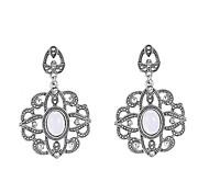 preiswerte -Damen Edelstein - Böhmische Weiß Geometrische Form Ohrringe Für Hochzeit / Party / Alltag