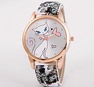 cheap -Women's Quartz Wrist Watch / Hot Sale Leather Band Casual Simulated Diamond Watch Fashion Multi-Colored