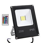 Недорогие -20w RGB с дистанционным управлением открытый безопасности лампы IP65 водонепроницаемым свет водить потока (85-265)