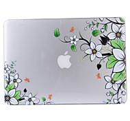 "Case for Macbook Air 11""/13"" Macbook Pro 13"" MacBook Pro 13"" with Retina display Flower Plastic Material Diagonal Transparent PVC Hard Shell"