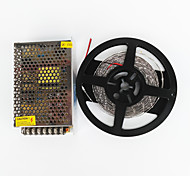z®zdm 5m 100w 600 * 7020 SMD LED de luz blanca fría y flexibles AC100-240V a Dc12v transformador 8.5a
