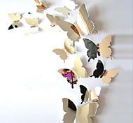 Недорогие -Животные Наклейки Зеркальные стикеры Декоративные наклейки на стены, Винил Украшение дома Наклейка на стену Стена