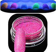 cheap -1 Bottle Nail Art Beautiful Noctilucent Powder Colorful Color Glitter Shining Nail Beauty Decoration Optional YG01-06