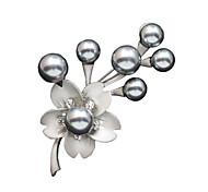Недорогие -серебра антикварные женщин гальваническим цветочный дизайн моды броши в день / случайный подарок