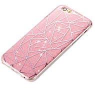 New Acrylic Luxury Creative Diamond Lattice IMD Flash Powder Cases for iPhone5/5S/SE/6/6s/6 Plus/6S Plus