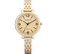 cheap -REBIRTH Women's Quartz Wrist Watch Bracelet Watch / Hot Sale Alloy Band Casual Elegant Fashion Silver Gold