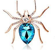 Недорогие -женщин моды личности милый большой паук брошь кристалл алмаза подарок ювелирные изделия изысканный брошь