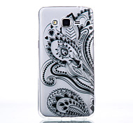 TPU Material Black Half Flower Pattern Cellphone Case for Samsung Galaxy J710/J510/J5/J310/G530/G360