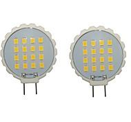 Недорогие -2pcs 300-350lm G8 Двухштырьковые LED лампы T 16 Светодиодные бусины SMD 2835 Водонепроницаемый Декоративная Тёплый белый Холодный белый