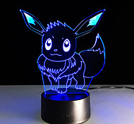 Newest Pocket Series Ibrahimovic 3D Visual Led LightsColorful Touch Usb 3D Table Lamp As Children Baby Sleeping Nightlight