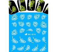 Недорогие -1 Наклейка для переноса воды Украшения для ногтей Полностью накладные ногти Классика Мультяшная тематика Милый Светится в темноте