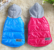 cheap -Dog Coat Hoodie Dog Clothes Solid Colored Red Blue Cotton Costume For Pets Men's Women's Casual/Daily Keep Warm