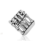 Men's Rings Personality Punk Claw Pattern Silver Statement Ring Fashion Jewelry Gift for Halloween