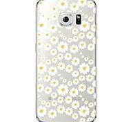 Недорогие -Для Samsung Galaxy S7 Edge Прозрачный / С узором Кейс для Задняя крышка Кейс для Цветы Мягкий TPU SamsungS7 edge / S7 / S6 edge plus / S6