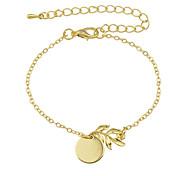 Gold Color Plain Metal Chain Bracelets