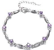 мода 925 серебряный инкрустированный cz браслет рождественские подарки элегантный стиль