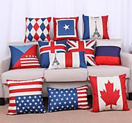 Capa de travesseiro retro da bandeira nacional de estilo europeu 1pcs