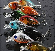 Lot 9Pcs Colors 4.5cm 4g Transparent Plastic Fishing Lures Minow Crankbaits 3D Fish Eye Artificial Lure Bait