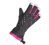 Недорогие -Перчатки для велосипедистов Лыжные перчатки Жен. Сохраняет тепло С защитой от ветра холст Катание на лыжах