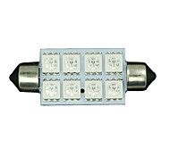 2 X Ultra Blue 42MM 5050 Festoon Dome Map Interior LED Light bulbs 578 2112 6411