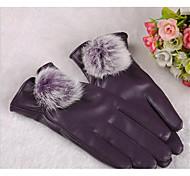 dama de bolas de conejo de pantalla táctil completa cálido invierno guantes de protección solar de fitness montar bicicleta de la
