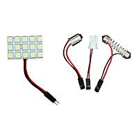 Недорогие -2 х T10 BA9S гирлянда белый привело 5050 15smd панель автомобиля интерьер купола карту светильник света