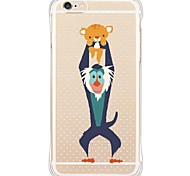 cheap -Case For Apple iPhone X iPhone 8 iPhone 6 iPhone 6 Plus Dustproof Shockproof Transparent Back Cover Animal Soft TPU for iPhone X iPhone 8