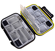 cheap -Fishing Tackle Boxes Tackle Box Waterproof Multifunction 1 Tray Plastic Metal 3 11.5
