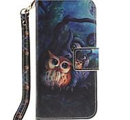 Недорогие -Для Кейс для iPhone 7 / Кейс для iPhone 6 Кошелек / Бумажник для карт / со стендом / Флип Кейс для Чехол Кейс для Животный принт Твердый