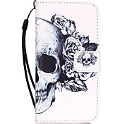 Skull Pattern Material PU Card Holder Leather for  iPhone 7 7 Plus 6s 6 Plus SE 5s 5 5C 4S