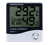 cheap -Indoor and Outdoor Temperature Hygrometer Electronic Digital Thermometer Electronic Clock Hygrometer