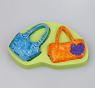 2016 nuevos ms. La forma del bolso formó la torta que adornaba el color del molde del silicón del jabón del molde del silicón