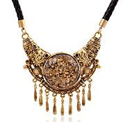 Недорогие -Жен. Ожерелья с подвесками  -  Кожа На заказ, кисточка, европейский Золотой Ожерелье Назначение Для вечеринок, Повседневные