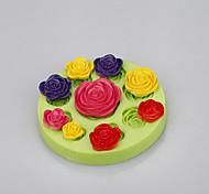 Mélange à base de silicone moules moulés à base de fleurs moules à gâteau fondant pour savon chocolat couleur aléatoire