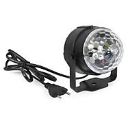 Недорогие -YWXLIGHT® 360lm Фестон LED PAR-прожектор Вращающаяся 1 Светодиодные бусины Высокомощный LED Декоративная Активация звуком RGB 85-265V