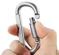 cheap -Aluminum Alloy D Shape Carabiner Screw Lock Bottle Hook Buckle Hanging Padlock Key Chain Camping Hiking