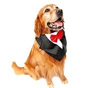 Недорогие -Коты Собаки смокинг пояс/Бабочка Одежда для собак Лето Весна/осень Бант Свадьба День рождения Новый год Лиловый Красный Синий
