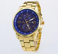 cheap -Men's Quartz Wrist Watch / Casual Watch Rose Gold Plated Alloy Band Casual Dress Watch Gold