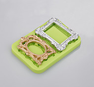 2 Cavity 3 D silicone mold  Photo frame  mould cooking cake for easy baking tool factory