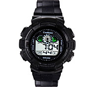 Hombre / Niño Reloj de Moda Digital / Silicona Banda Casual Negro Marca