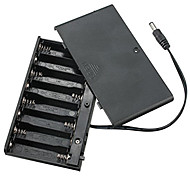 aa chave 8 tampa com cabeça dc caixa de bateria 12v