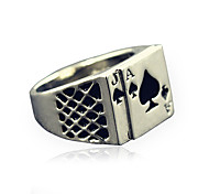cheap -Men's Statement Ring Silver Alloy Personalized Vintage Fashion Christmas Gifts Daily Casual Costume Jewelry