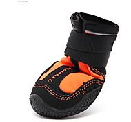 Perros Zapatos y Botas Ropa para Perro Invierno Verano Primavera/Otoño Un Color A Prueba de Agua Naranja Verde