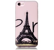 Glow in the Dark Eiffel Tower Pattern Embossed TPU Material Phone Case for  iPhone 7 7 Plus 6s 6 Plus SE 5s 5