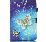cheap -Case For Samsung Galaxy Tab A 9.7 Tab S2 9.7 Tab S2 8.0 Samsung Galaxy Case Card Holder Wallet with Stand Flip Pattern Embossed Full Body