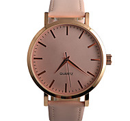 Women's Fashion Watch / Quartz PU Band Casual Black Brown Pink Strap Watch