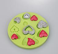Chocolate Mold Love Heart Shape For Fondant Cake Decoration Silicone Ramdon Color